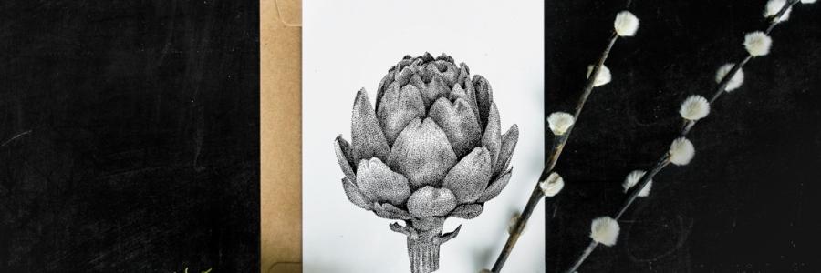 Artisjok – Mélisse Prints – Illustraties en ansichtkaarten van dieren en planten, flora en fauna
