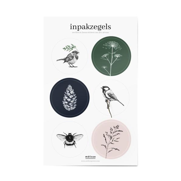Mélisse inpakzegels cadeau stickervel stickers